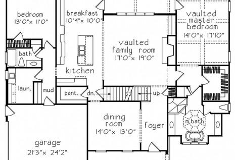 Chelsea main floor plan drawing