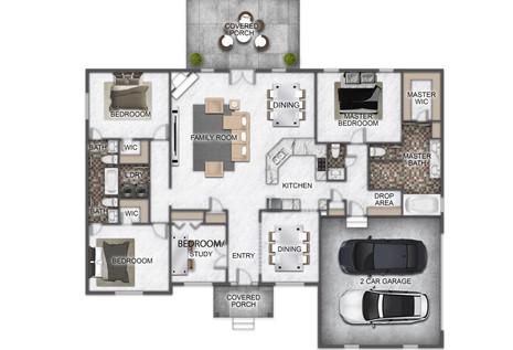 2D Textured Floorplan - The Fairfield