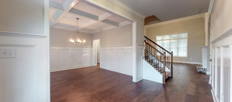 Dining Room from Foyer with Stairway