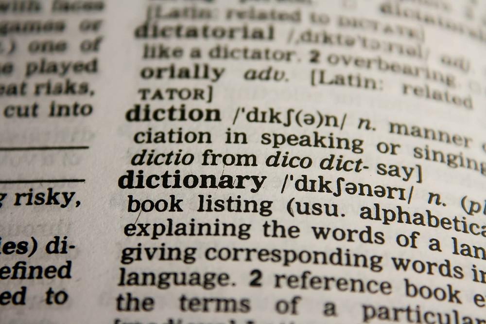 photo d'un dictionnaire