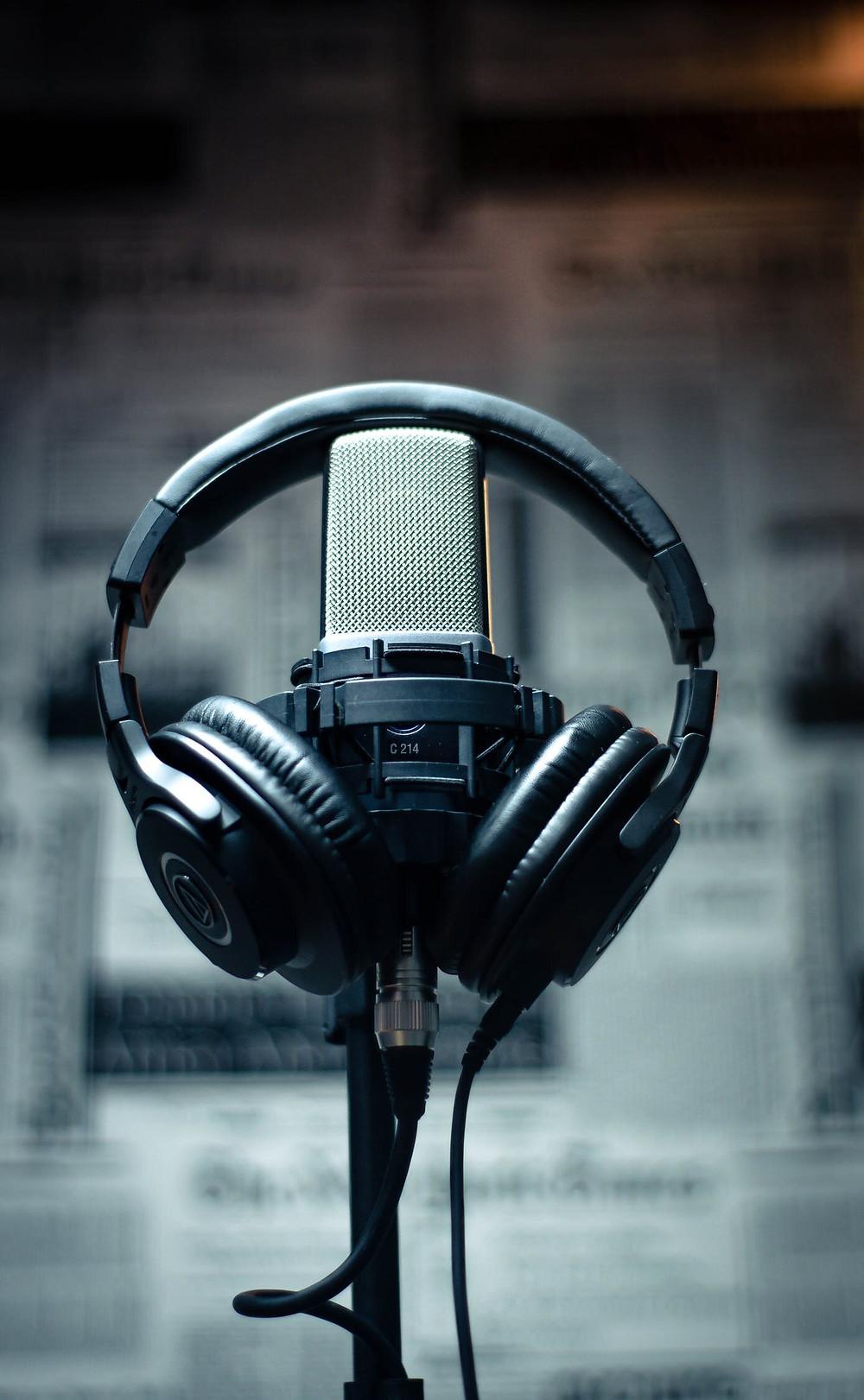 photo d'un casque audio de studio