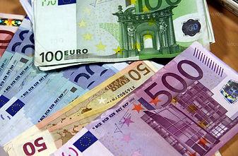 billets de 500 euros, 50 euros, 100 euros,20 euros
