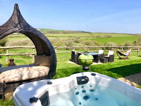 Year round hot tub tucked away!