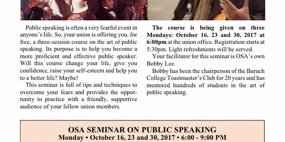 INTRODUCTION TO PUBLIC SPEAKING by BOBBY LEE