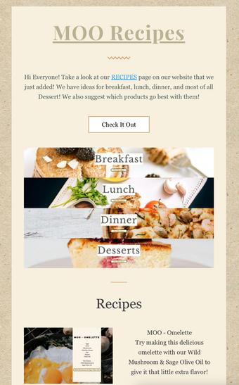 MOO - Recipes