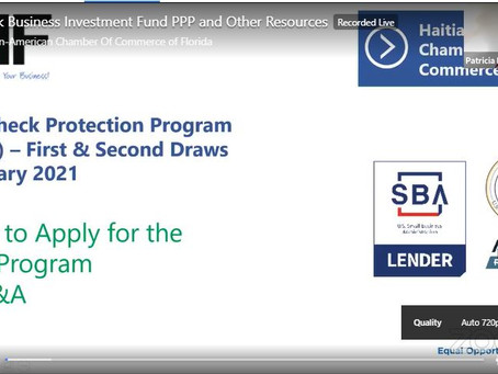 Black Business Investment Fund PPP and Other Resources Recorded Live