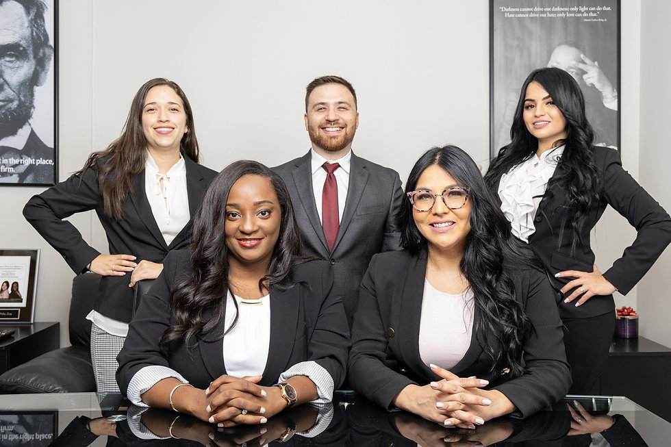Photo of Office Employees and Individual Attorney for Jarbath Peña Law Group PA, Family Law and Immigration Law Attorneys in Coral Gables, Miami, FL.