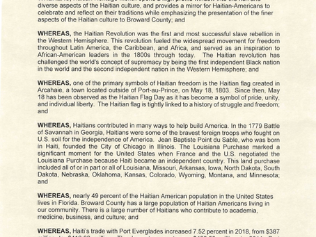 Proclamation Requested by Commissioner Dale V. C. Holness