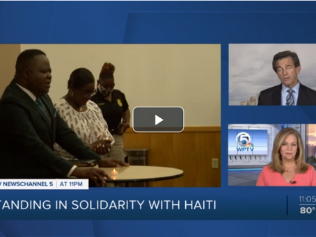 IN THE NEWS: Candlelight vigil held in wake of assassination of Haitian president