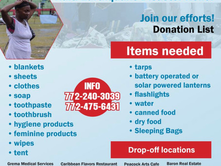 Join our efforts for the Haiti Earthquake Disaster Relief
