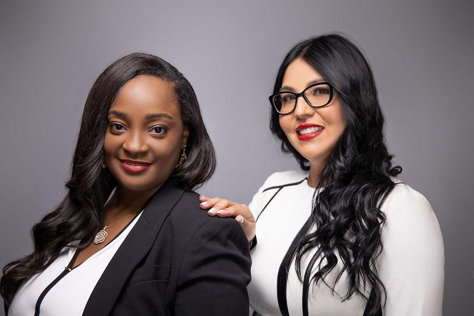 Photo images of Miami family and immigration attorneys, Fritznie Jarbath and Melisa Peña, of Jarbath Peña Law Group PA.