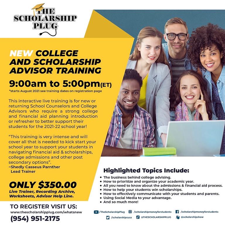 College & Scholarship Advisor Training - August