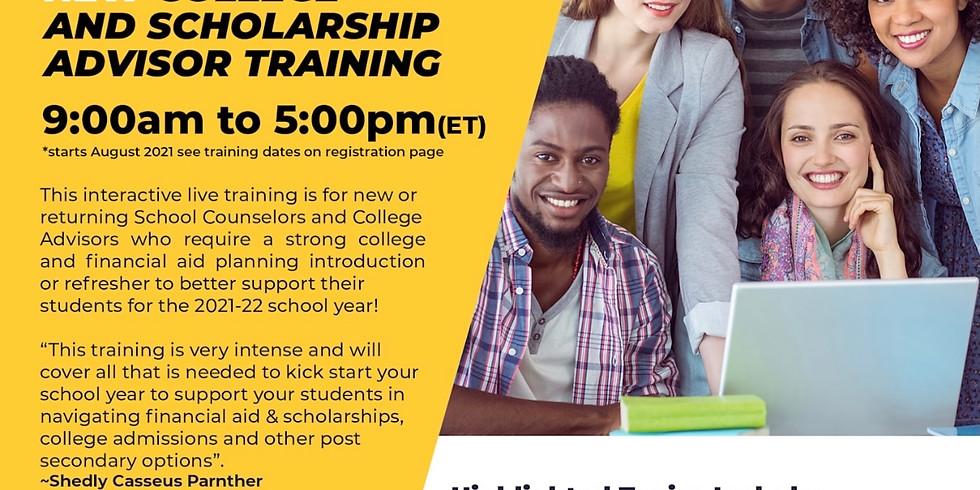 College & Scholarship Advisor Training - October
