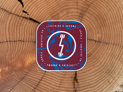 Liquid Logo Sticker - Maroon