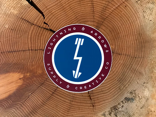 L&A Logo Sticker - Maroon + Teal