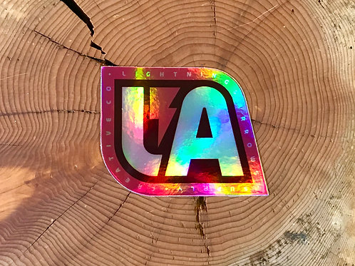 LA Follow The Curve Sticker - Holographic