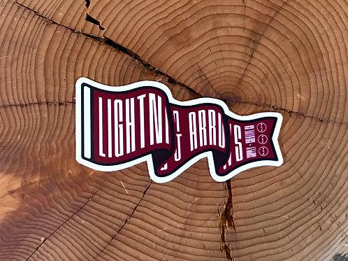 L&A Flying Pennant Sticker