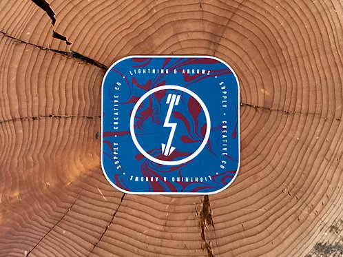 Liquid Logo Sticker - Teal