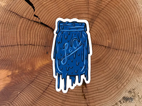 Drippy Mason Jar Sticker
