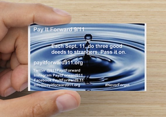 Pay it Forward 9/11 ripple effect push card