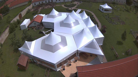 Sky View Of Sky Dome Tents