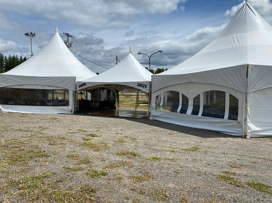 Hex Tents Joined By 20x20