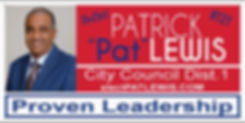 Lewis - City Council - 2 x 4 road signs_