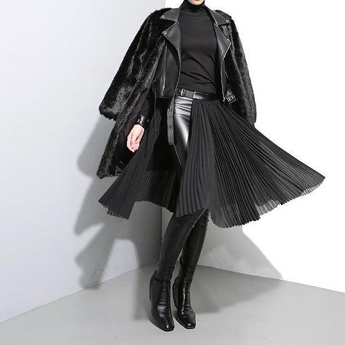 Allen Chiffon Belted Half Skirt