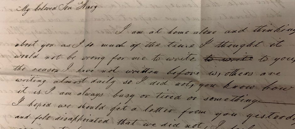 """Anxiety and love..."" -  A Pittsburgh mother's worrisome letter to a son on the war front"