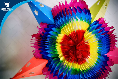 Piñata estrella colores