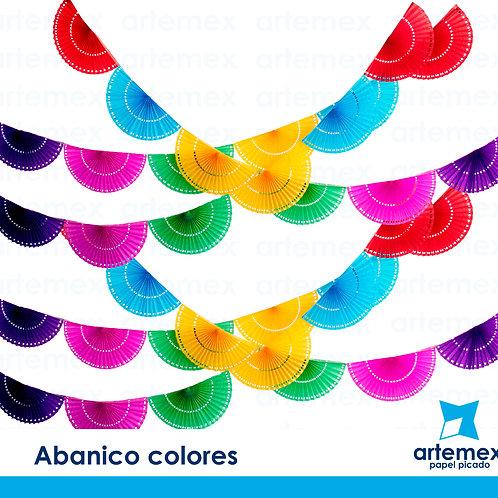 Abanico colores