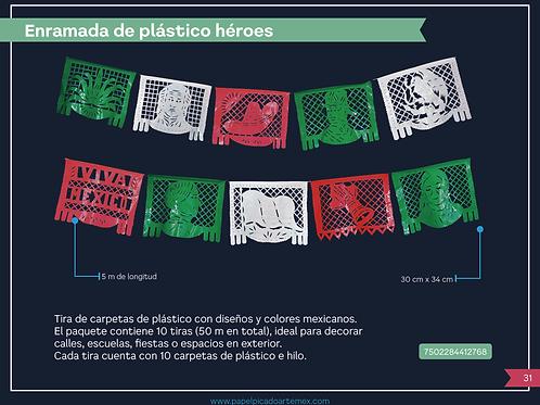 Enramada plástico Héroes