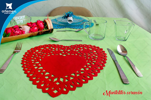 Mantelitos corazón