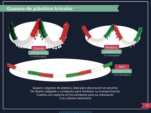 Gusano De Plástico Tricolor