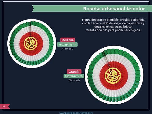 Papel Picado / Roseta Artesanal Tricolor