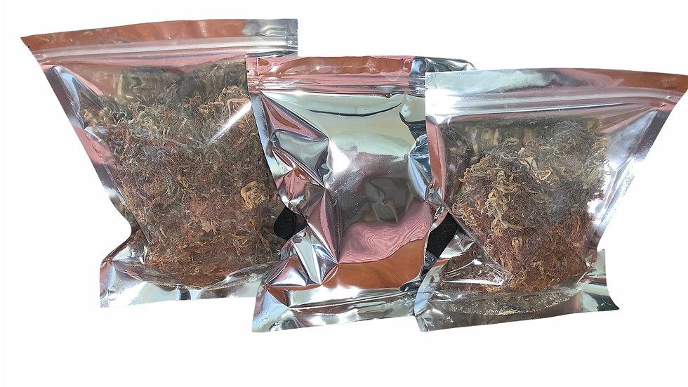 Dried Wildcrafted Jamaican purple Seamoss 8oz. bag