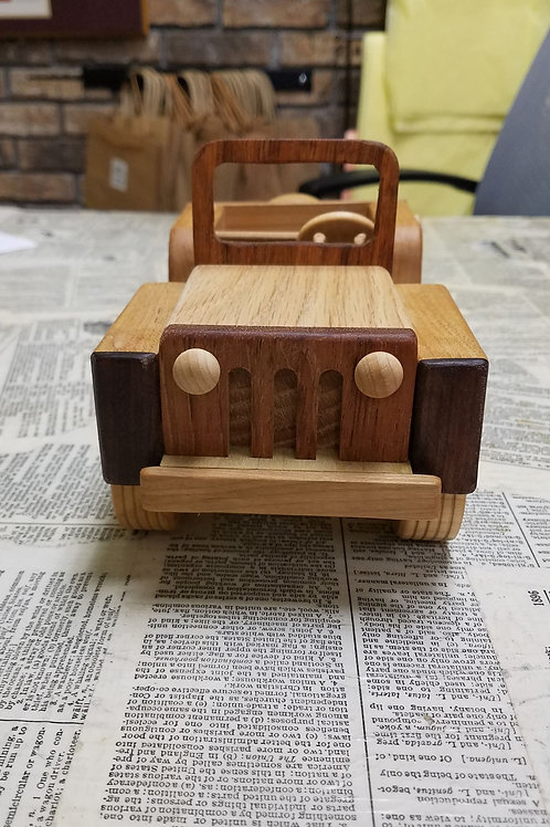 Wood Toy - Jeep, Pick up or Motorcycle