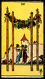 4 of Wands: Tarot Reading Virginia