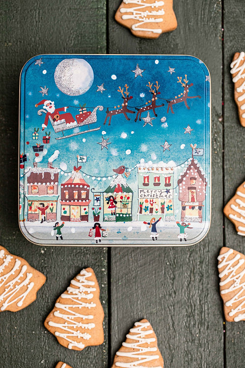 Gluten and Dairy FREE Lightly Iced Trees in a Christmas Santa Tin