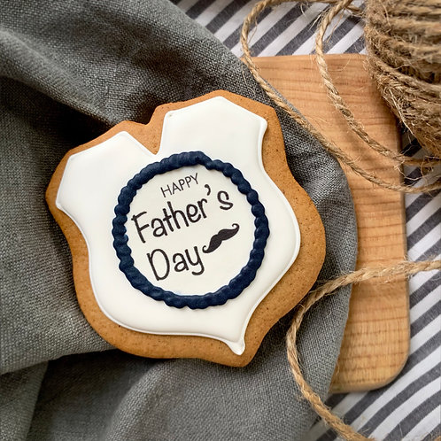Father's Day Gingerbread White 1x
