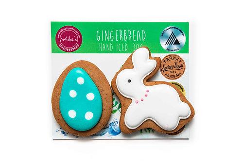 Bunny and Egg 2pk - Aqua