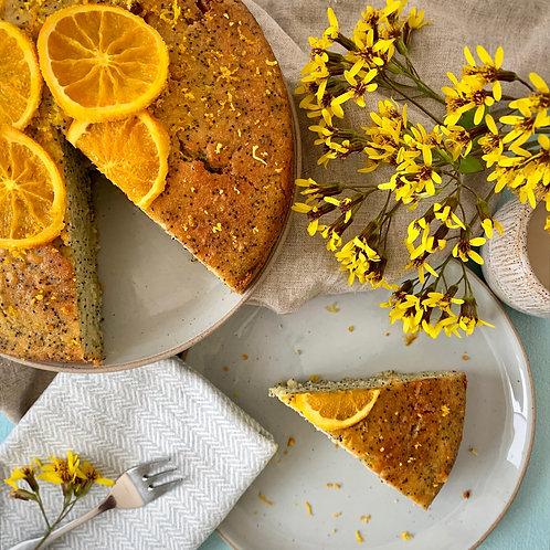"""8"""" Orange and Poppy Seed Cake"""