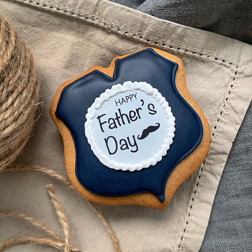 Father's Day Gingerbread Navy 1x