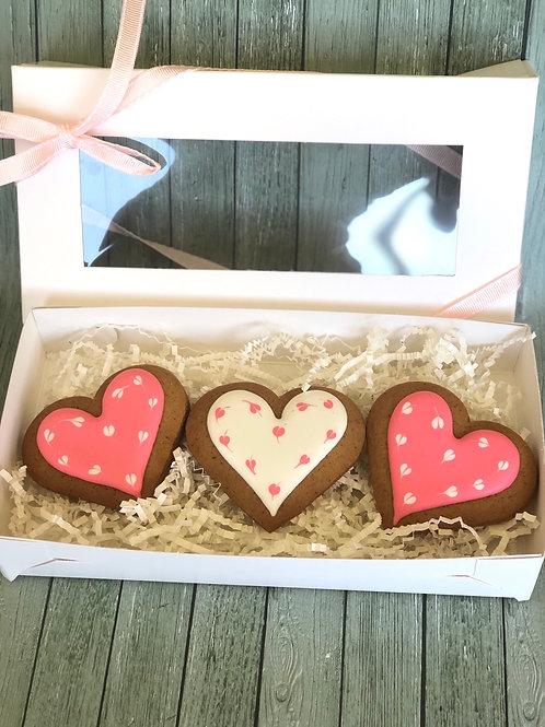 3 Hearts Gift Box - Pink