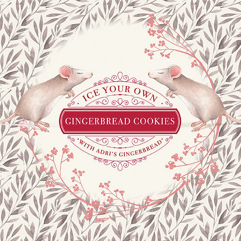 VEGAN + Gluten and Dairy FREE Fun Shapes Gingerbread DIY Kit