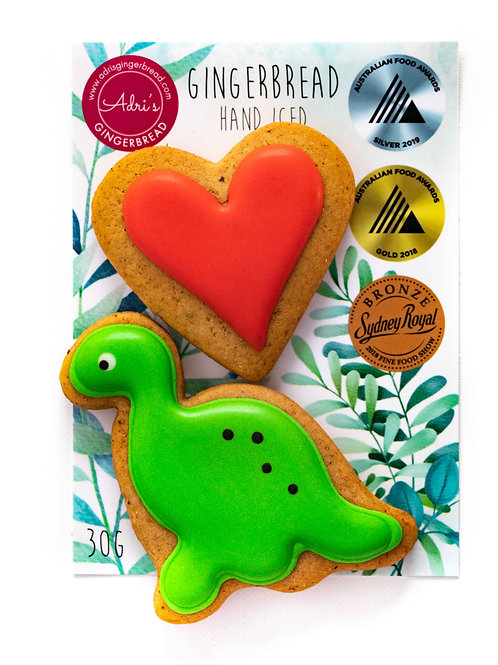 Gluten and Dairy FREE Dino and Heart 2pk
