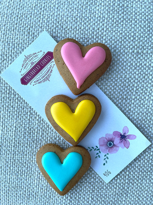 3pk Mini Hearts with Pink