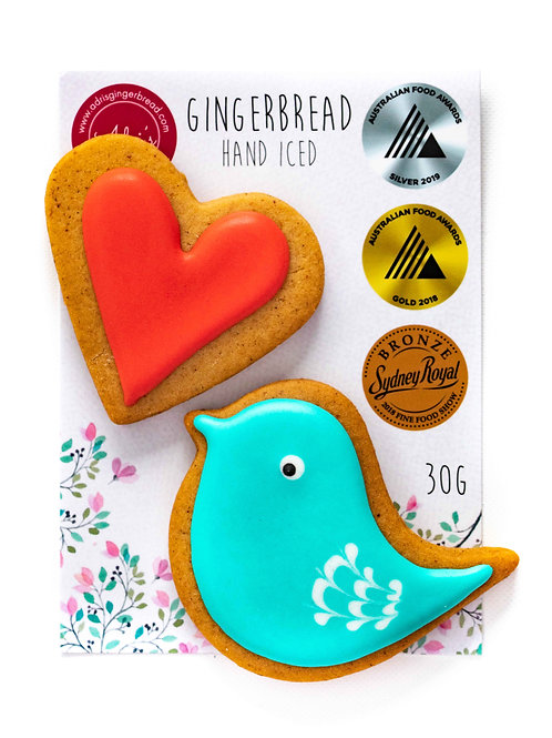 Gluten and Dairy FREE Bird and Heart 2pk