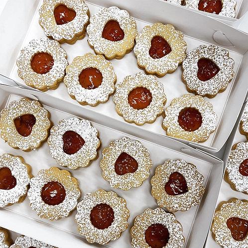 Linzer Cookies 8x pieces