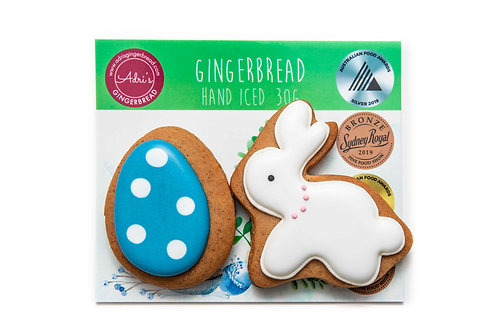 Bunny and Egg 2pk - Blue